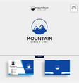 top of the mountain in the form of letter m with vector image vector image