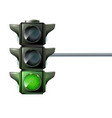traffic light the three colors light up red vector image vector image