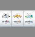 travel to turkey egypt and dubai time to travel vector image vector image