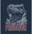 Trex Dinosaur background vector image vector image