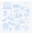 Vidoe Game Related Object Set vector image vector image