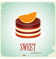 vintage chocolate cake vector image