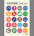 Weather web icons set drawn by chalk vector image