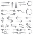 white arrows on white background gray arrows vector image vector image