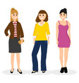 women young girlfriends communicate vector image vector image