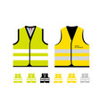 yellow and light green reflective vests as a vector image vector image