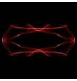 Abstract red ornament on black background vector image
