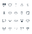 Set of hand drawn funny faces Happy faces vector image