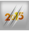 2015 numbers orange vector image vector image