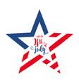 4th july celebration holiday banner star shape vector image vector image