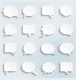 abstract white speech bubbles set vector image vector image