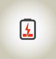 Accumulator icon with lighting symbol vector image