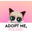 adopt me cute cartoon character help animal vector image vector image