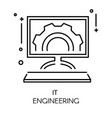 app development and it engineering isolated vector image
