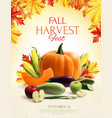 autumn harvest realistic composition vector image vector image