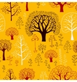 Autumn Pattern with silhouettes of trees vector image vector image