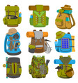 backpack camp backpacking travel bag with vector image vector image