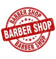 barber shop red grunge round vintage rubber stamp vector image