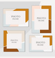 beautiful photo frame on background vector image vector image