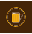 Beer glass mug round icon with foam cap froth vector image