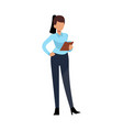 businesswoman character young business woman vector image vector image