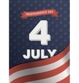 Card for Independence Day 4th of July vector image vector image
