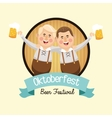 cartoon man oktoberfest icon graphic vector image vector image
