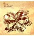 Christmas New year holidays hand drawn vector image vector image
