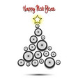 christmas tree from bicycle wheel vector image vector image