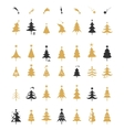 Christmas tree silhouette design vector image