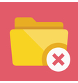 Close Folder Icon vector image