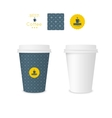 Closed paper cup for coffee with texture vector image vector image