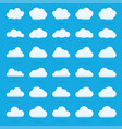 cloud icon set white color on blue background sky vector image vector image