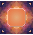 colorful kaleidoscope background with label vector image