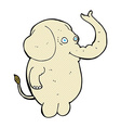 comic cartoon funny elephant vector image vector image