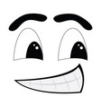 comic facial expression vector image