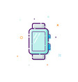 concept smart watch icon thin line flat design vector image