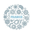 coronavirus in france round concept linear vector image vector image