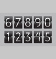 countdown black flip clock scoreboard retro panel vector image vector image
