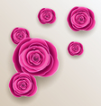 Cutout flowers - beautiful roses paper craft vector image vector image