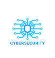cyber security logo template vector image vector image