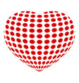 dotted abstract heart icon simple style vector image vector image