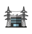 energy tower isolated icon vector image vector image