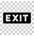 exit label icon vector image vector image