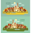 farm in the village Set of elements - house vector image