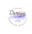 fashion design logo premium quality badge for vector image vector image