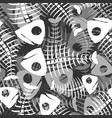 fish bones seamless pattern fishy skeleton vector image vector image