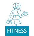 Fitness club and gym banner or poster design vector image