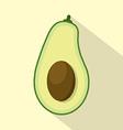 Flat Design Avocado Icon vector image vector image
