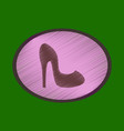 flat shading style icon women high heel shoes vector image vector image